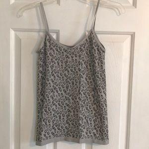 Grey leopard print cami.